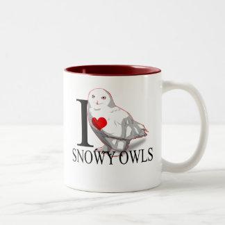 I Love Snowy Owls Mugs