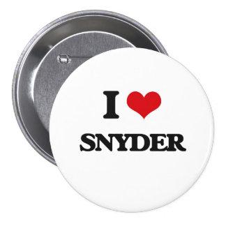 I Love Snyder 3 Inch Round Button