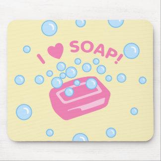 I Love Soap Mouse Pad