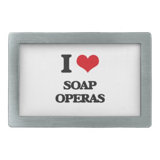 I love Soap Operas Rectangular Belt Buckle
