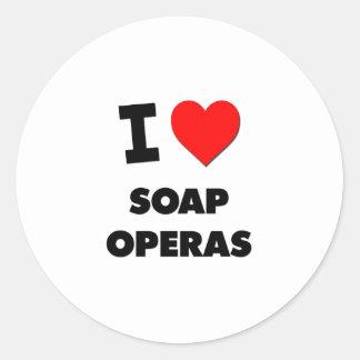 I love Soap Operas Classic Round Sticker