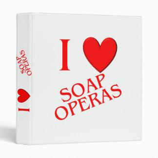 I Love Soap Operas Vinyl Binder