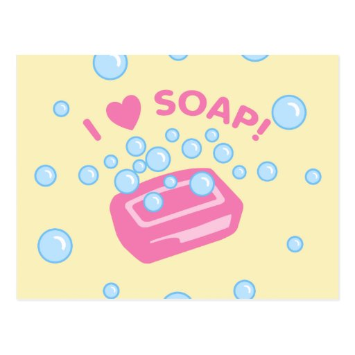 I Love Soap Postcard