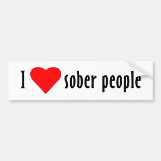 I Love Sober People Bumper Sticker