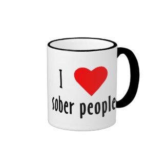 I Love Sober People Ringer Mug