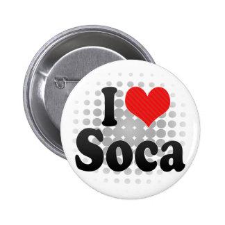 I Love Soca 2 Inch Round Button