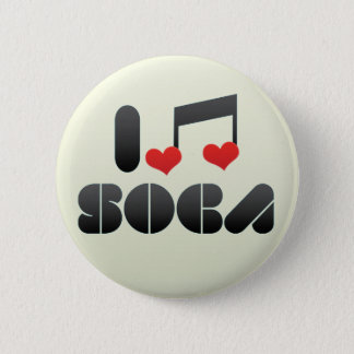 I Love Soca Pinback Button