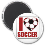 I love soccer! 2 inch round magnet