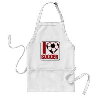 I love soccer! adult apron