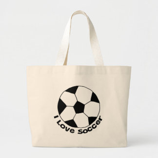 I Love Soccer Canvas Bags