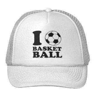 I Love Soccer Ball Basketball Trucker Hat