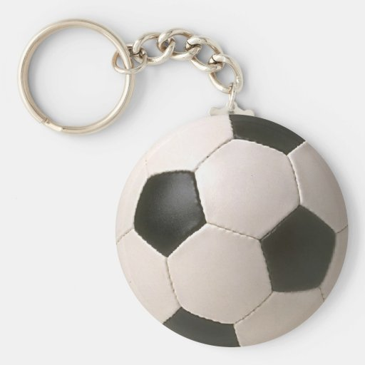 I Love Soccer Basic Round Button Keychain