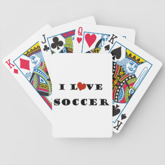 I Love Soccer Bicycle Playing Cards