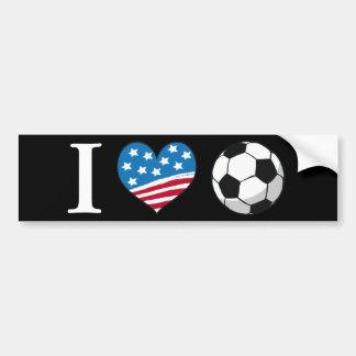 I Love Soccer - bumper sticker