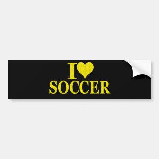 I Love Soccer Car Bumper Sticker