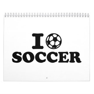 I love soccer wall calendar