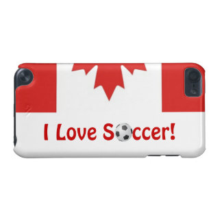 I Love Soccer!/Canadian Maple Leaf iPod Touch (5th Generation) Covers