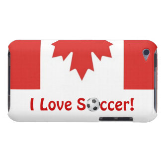 I Love Soccer!/Canadian Maple Leaf iPod Touch Cover