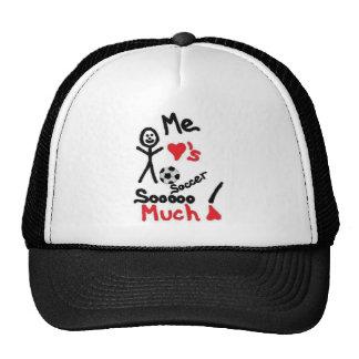 I Love Soccer Cartoon Trucker Hat