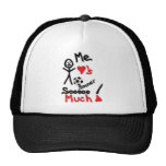 I Love Soccer Cartoon Mesh Hat