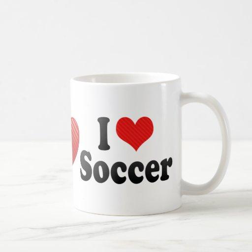 I Love Soccer Classic White Coffee Mug