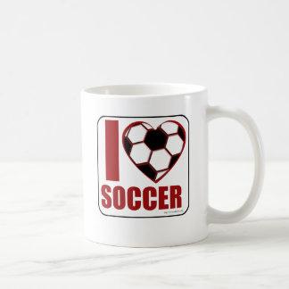 I love soccer! coffee mug