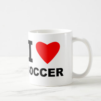 I Love Soccer Coffee Mug