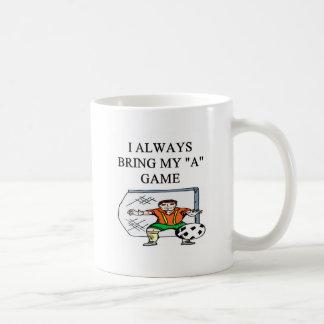 i love soccer goalie coffee mug