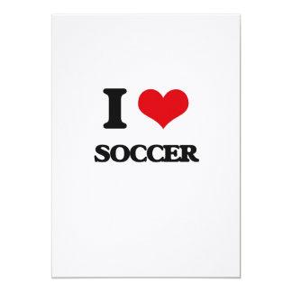 I love Soccer 5x7 Paper Invitation Card