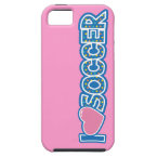 I Love Soccer iPhone 5/5S Covers