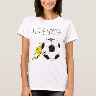 I love SOCCER! Kitten chewy Soccerball T-Shirt