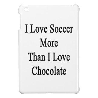 I Love Soccer More Than I Love Chocolate iPad Mini Cover