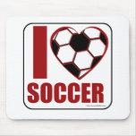 I love soccer! mouse mats