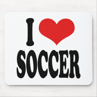 I Love Soccer Mouse Pad