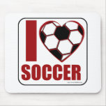 I love soccer! mouse pad