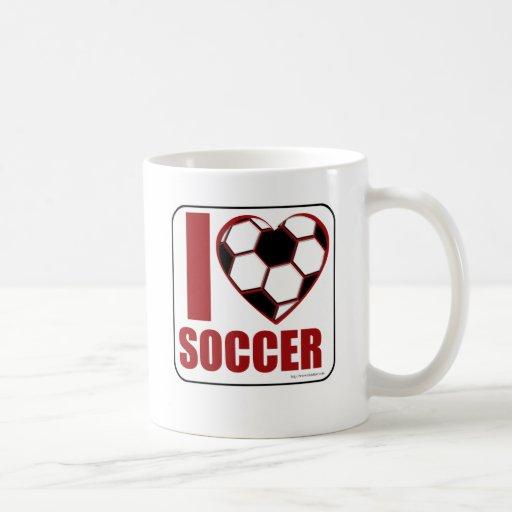 I love soccer! mug