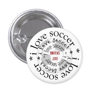 i love soccer pinback button