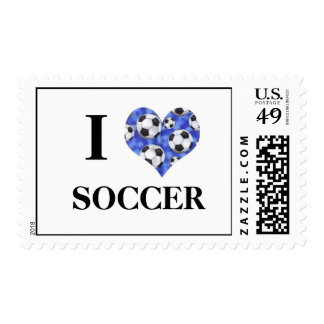 I Love Soccer Postage