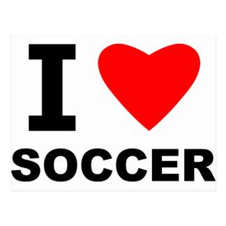 I Love Soccer Postcard