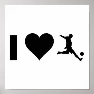 I Love Soccer Poster