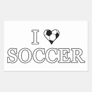I Love Soccer Rectangular Sticker