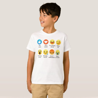I Love SOCCER Social Emoticon (emoji) (Dark Font) T-Shirt