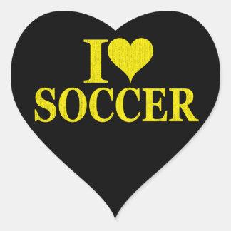 I Love Soccer! Heart Sticker