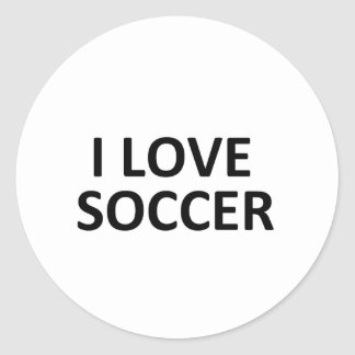 I love soccer stickers