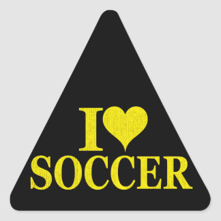I Love Soccer! Triangle Sticker