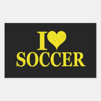 I Love Soccer! Rectangular Sticker