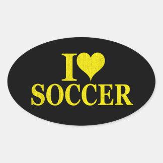 I Love Soccer! Oval Sticker