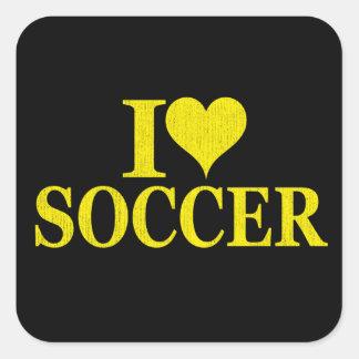 I Love Soccer! Square Sticker