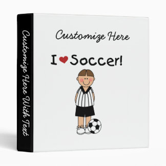 I Love Soccer T-shirts and Gifts Binder