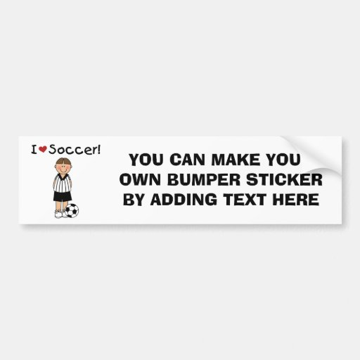 I Love Soccer T-shirts and Gifts Car Bumper Sticker